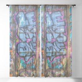 Painted Doorway Sheer Curtain