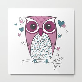 Loveable Owl Metal Print