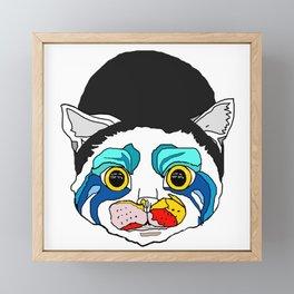 Ga Ga Cat Head Framed Mini Art Print