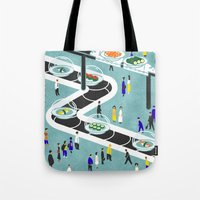 sushi Tote Bags featuring Sushi by Alexey Khamkin