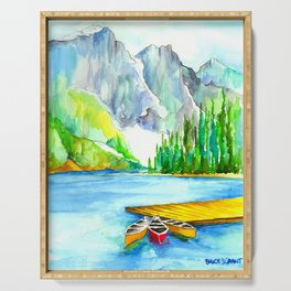 Lake Louise Watercolor Serving Tray