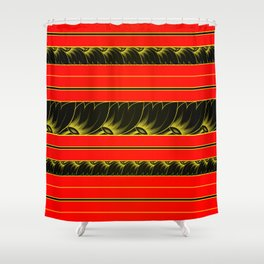 Lacquered Shower Curtain