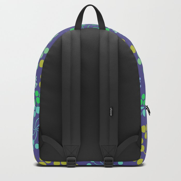 Fun Multicolored Whirligig Pattern Backpack