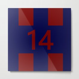 Legendary No. 14 in red and blue Metal Print