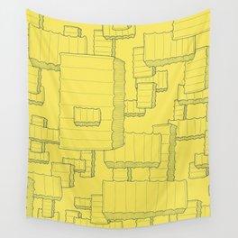 Fry Pattern - maize Wall Tapestry