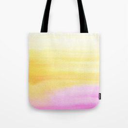 Pink and Yellow Wash Tote Bag