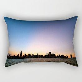 Chicago Skyline Silhouette Rectangular Pillow