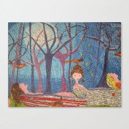 Moon Bathe Canvas Print