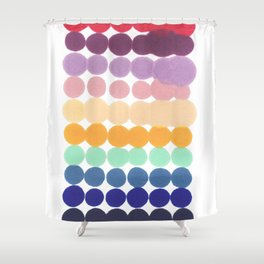 Imperfect / dot pattern Shower Curtain