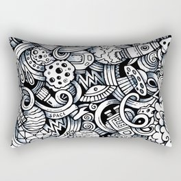 Space Doodles Rectangular Pillow