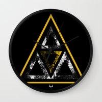 illuminati Wall Clocks featuring Illuminati by Haych