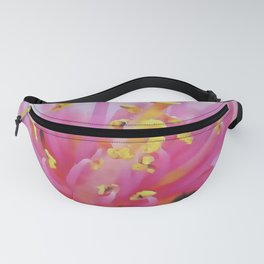 Pink Peach Pollen Macro Abstract  Fanny Pack