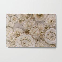 Paper Bouquet Metal Print