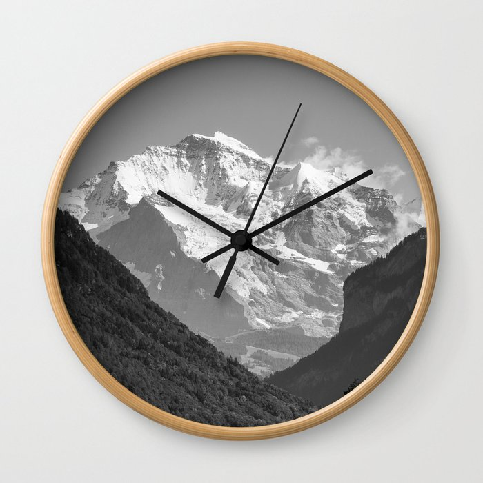 BW Post Card to Swiss Wall Clock