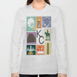Kansas City Landmark Print Long Sleeve T-shirt