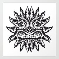 Polynesian Sun Art Print