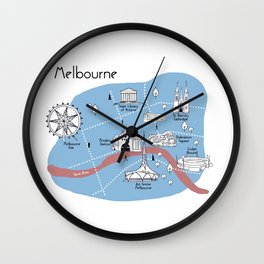 Mapping Melbourne - Original Wall Clock