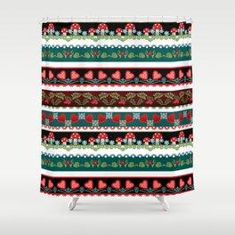 Pattern fun children's . Braid. Shower Curtain