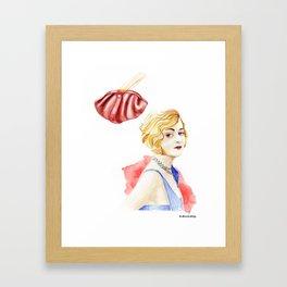 1920 Charlestone girl Framed Art Print
