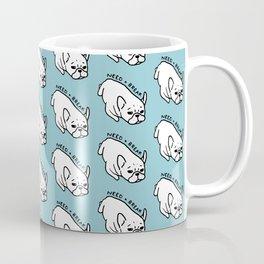Need a break, the cute French Bulldog wants to take a nap Coffee Mug