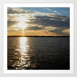 Lake Sunset III Art Print