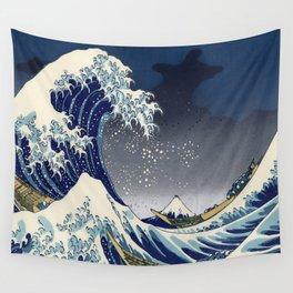 Great Wave: Kanagawa Night Wall Tapestry