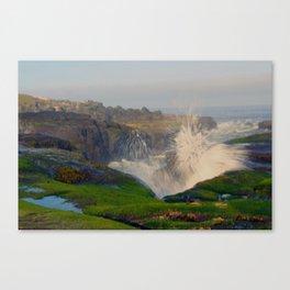 Waves Crashing in Yachats Canvas Print