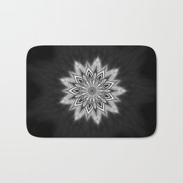 Black Ice Mandala Swirl Bath Mat