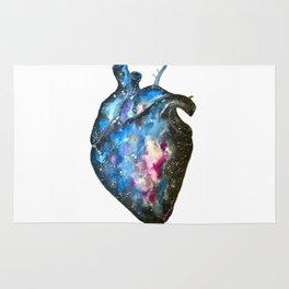 Galaxy heart Rug