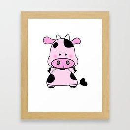 Lady Moo Moo Framed Art Print