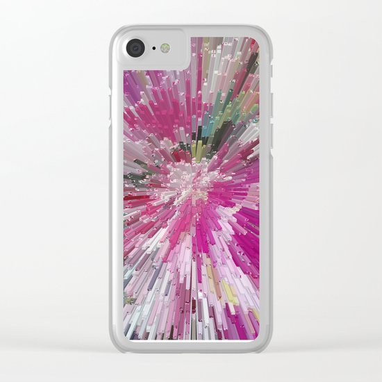 Abstract flower pattern 3 Clear iPhone Case