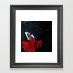 Rose Red, Ink Blue Framed Art Print