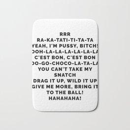 RuPaul's Drag Race Poster All Stars 3 BeBe Zahara Benet Song Poster Drag Up your life Bath Mat