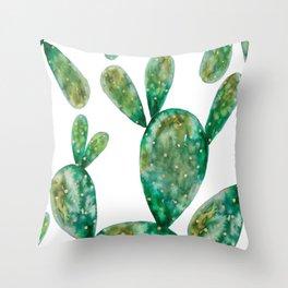Gold Cactus | Original White Palette Throw Pillow