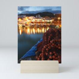 Fishing harbour Mini Art Print