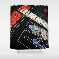 poker Shower Curtains featuring poker by yahtz designs
