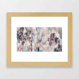 Painted Patina Pastel Textured Artwork Framed Art Print