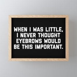 Eyebrows Are Important Funny Quote Framed Mini Art Print