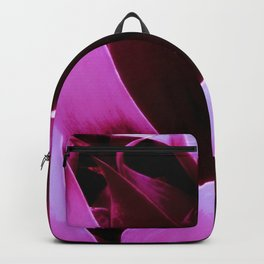 Magenta Leaves Abstract Backpack