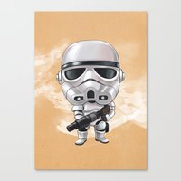 storm trooper Canvas Prints featuring STORM TROOPER by Leoren