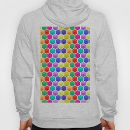Colorful 3D octagons geometric pattern Hoody