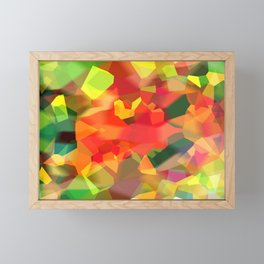 Abstract Polygon Forest Framed Mini Art Print