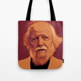 William Golding - crimson and gold portrait Tote Bag