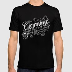 Geronimo! SMALL Mens Fitted Tee Black