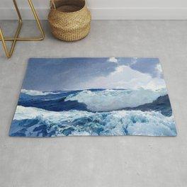 Mid Ocean by Frederick Judd Waugh Rug