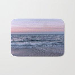 Pastel beach sunset Bath Mat