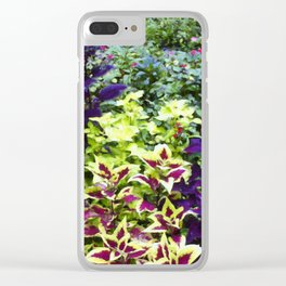 Floral Print 005 Clear iPhone Case