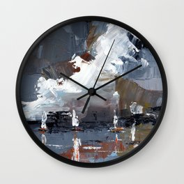 Blue harbour Wall Clock
