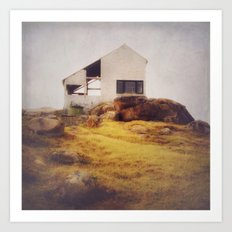 Once Upon a Time an Abandoned House  Art Print
