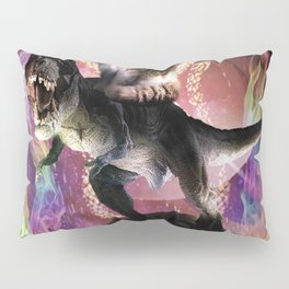 Evil Space Laser Cat On Dinosaur Unicorn On Taco Pillow Sham